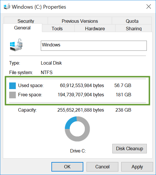 Clear up disk space for QuickBooks Desktop - QuickBooks