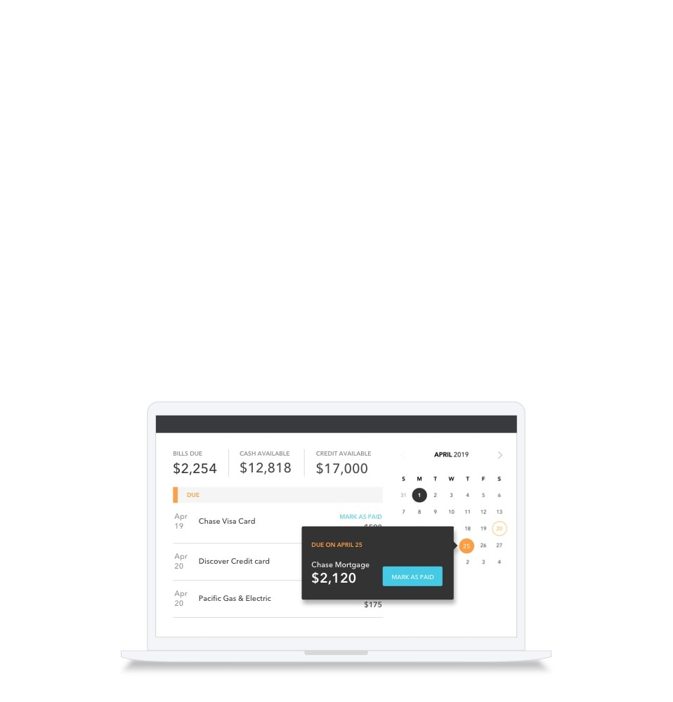 Bill Tracking: Online Monthly Bill Tracking & Reminders | Mint
