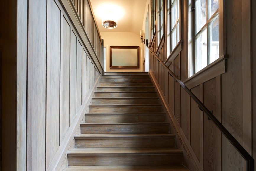 Staircase in a new home.