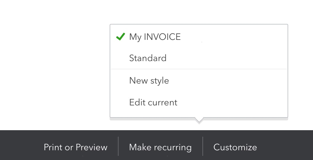 Customise your invoices, estimates, and sales receipts in