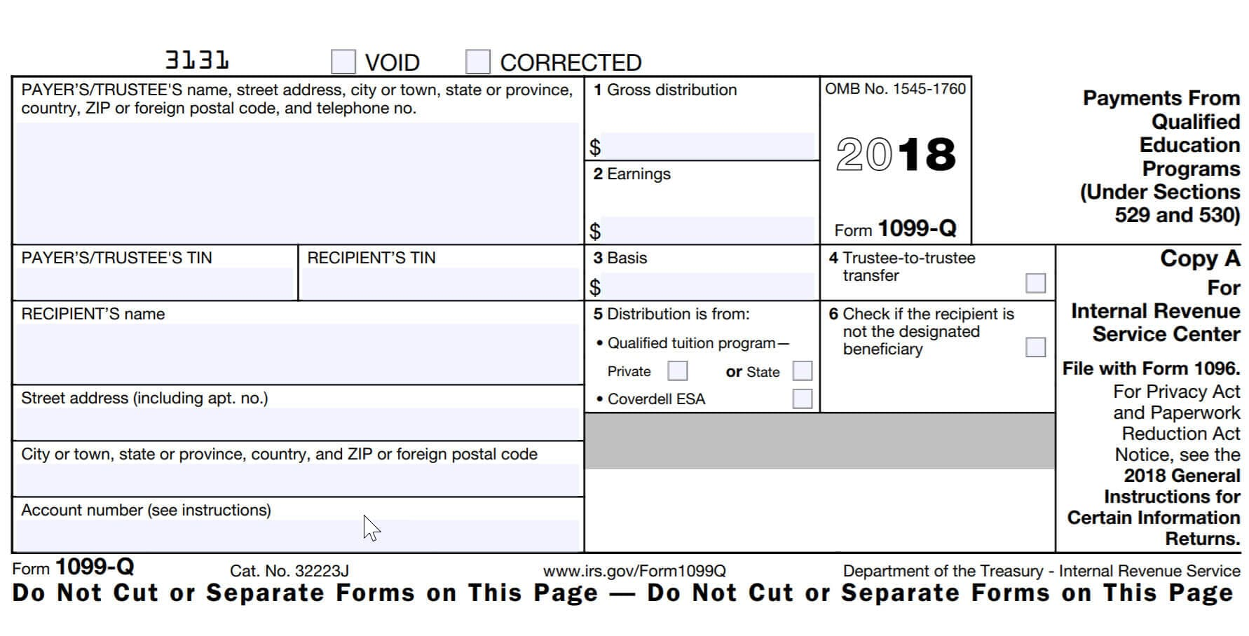 What is irs form 1099 q turbotax tax tips videos if you contribute money to a qualified tuition program such as a 529 plan or a coverdell esa you will likely receive an irs form 1099 q in each year you falaconquin