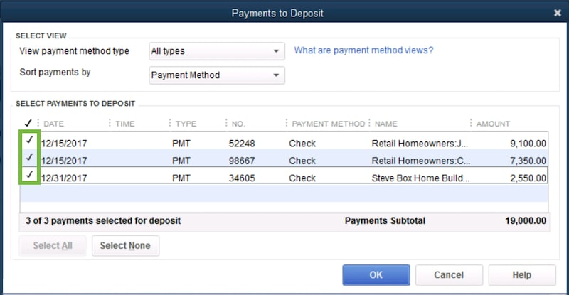Record and make Bank Deposits in QuickBooks Deskto