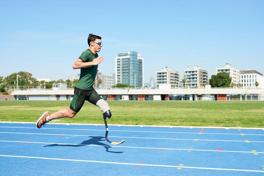 disabled runner in motion