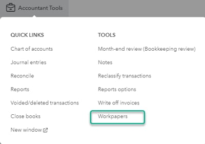 Account Tools_Workpapers