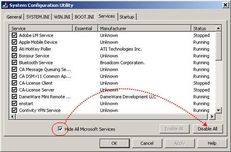msconfig-service