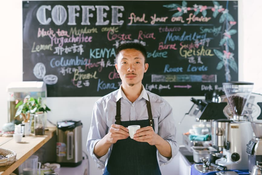 Asian barista