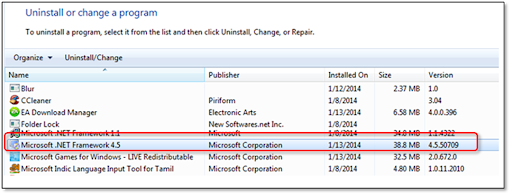 This shows the list of programs you can uninstall in Windows