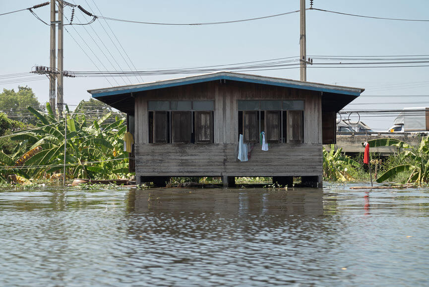house flooded after a hurricane