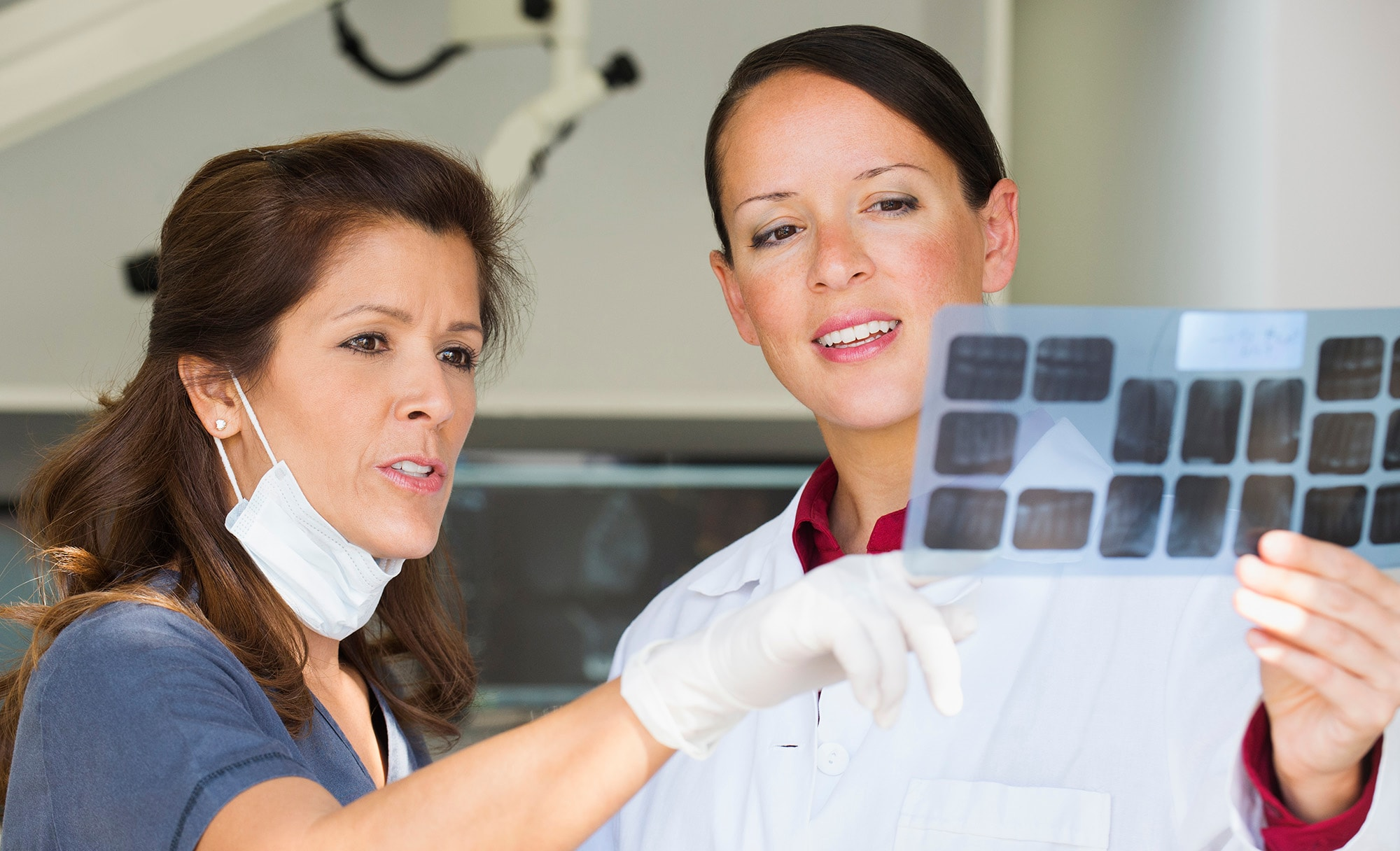 Doctors looking at x rays