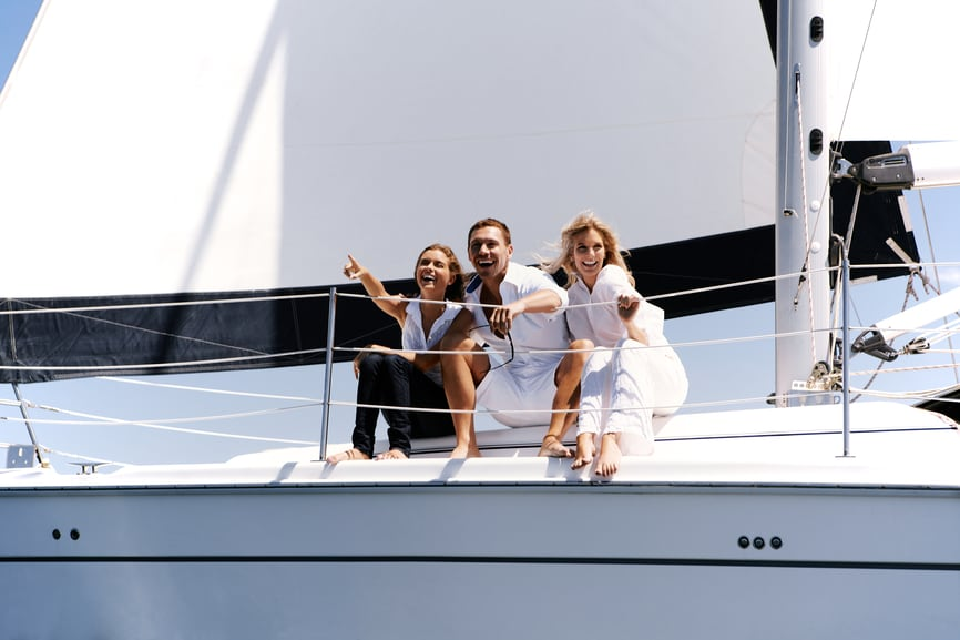 Friends on Yacht
